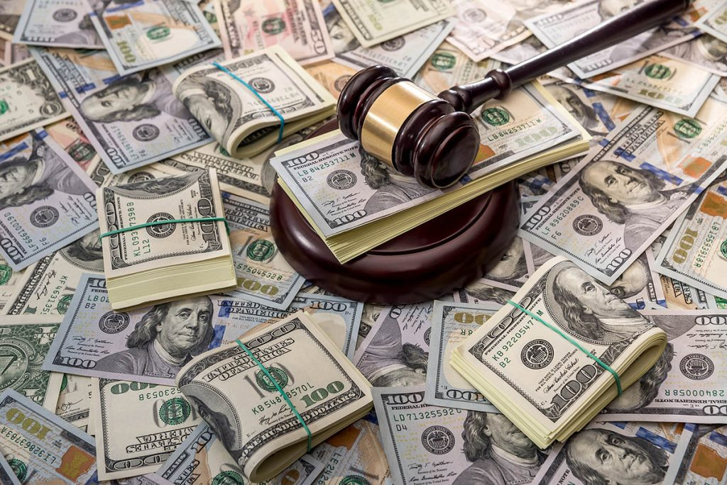 money and a gavel